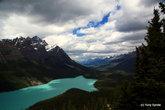Озеро Peyto. Очень большое и красивое озеро со смотровой площадкой на большой высоте. Попалось нам по пути.