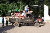 На китайском грузовике