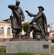 Памятник Петру Первому и Михаилу Сердюкову