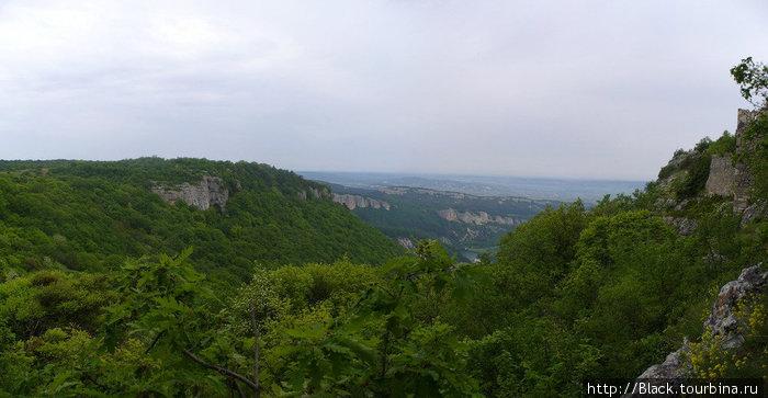 панорама с Мангуп-Кале