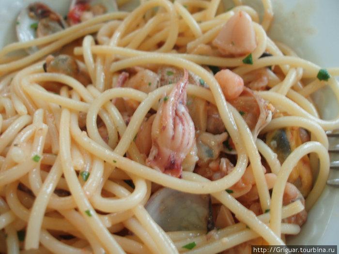 Здоровая итальянская пища...;)