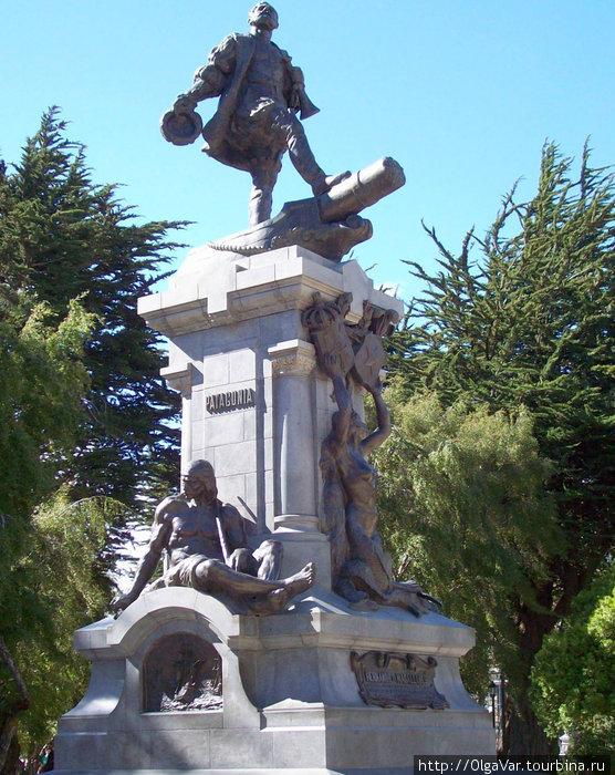 Памятник Магеллану на  Плаза де Армас