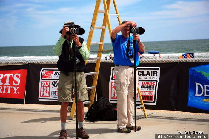 Фотографы на финише.