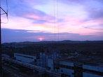 Закат на крыще Крымской АЭС