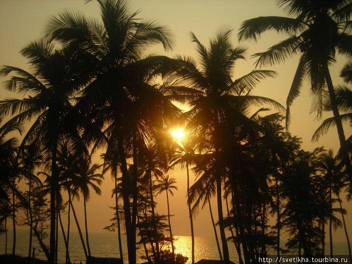 Волшебный закат на Индийском океане