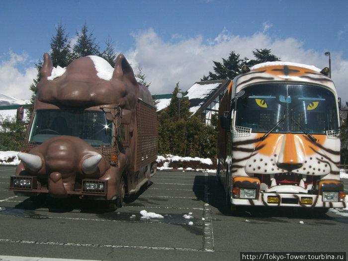 Таких автобусов много разновидностей, стилизованных под внешний вид животных. Есть еще мини-автобусы