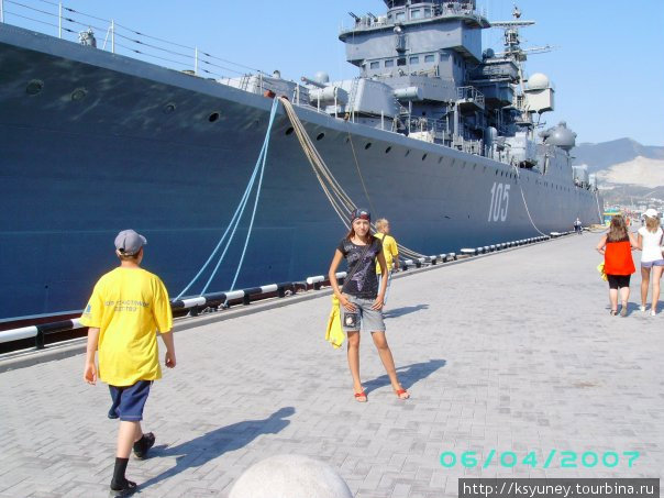 На военном корабле в Новороссийске