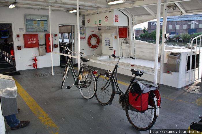 Для велосипедов всегда много места.