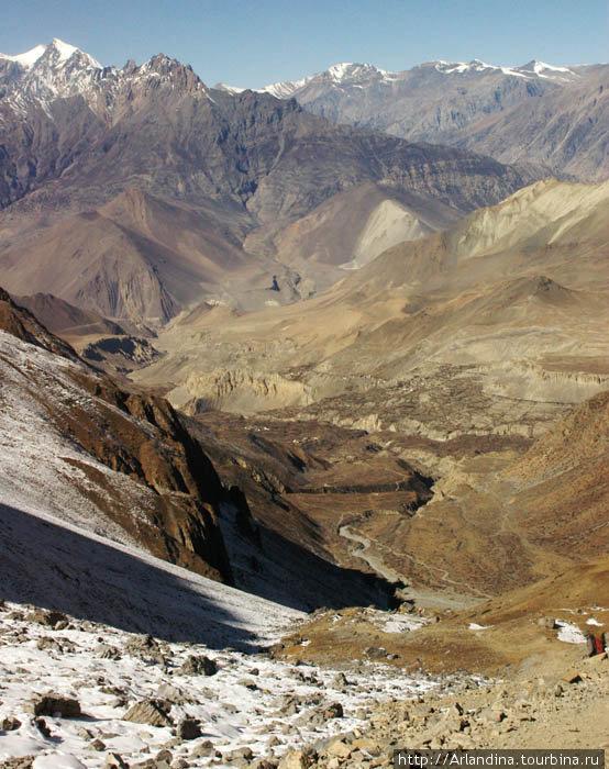 Вид с перевала  в сторону