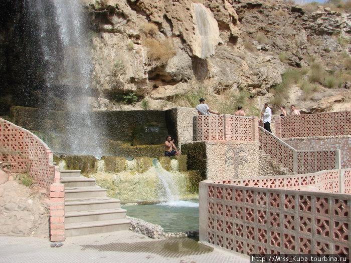 Арабские мужчины на горячих источниках Зарка-Маин