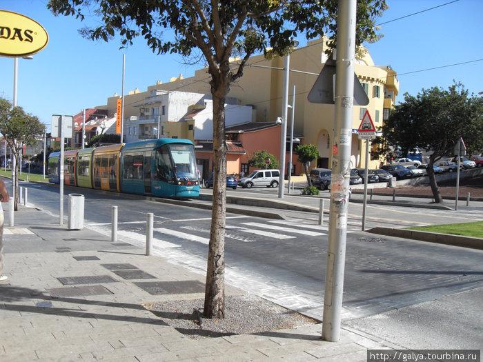 разноцветные трамвайчики