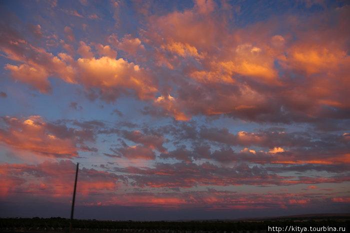 Закат над Вашингтонской пустыней