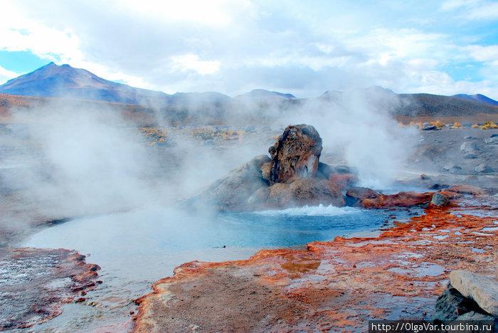 Фантасмагория гейзеров Татио Сан-Педро-де-Атакама, Чили