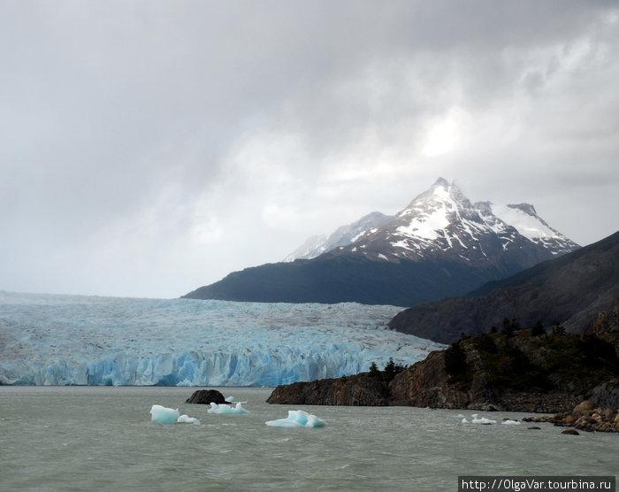 Ледник Грей на озере Грей (национальный парк Торрес-дель-Пайне)