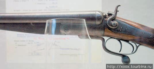 Двухствольное ружьё Holand & Holand, принадлежавшее Раулю Амундсену