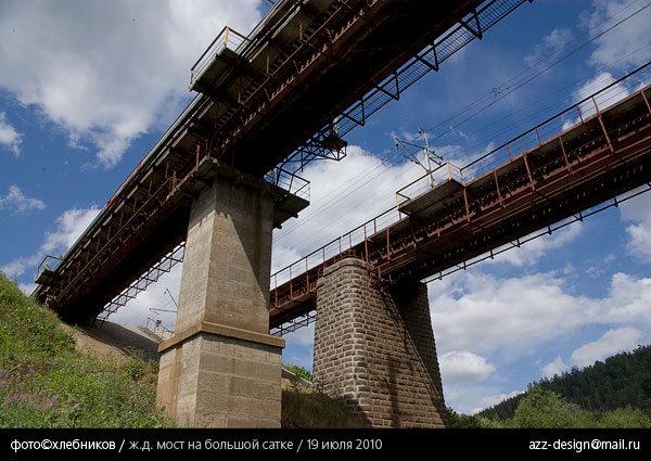 река большая сатка / железнодорожный мост