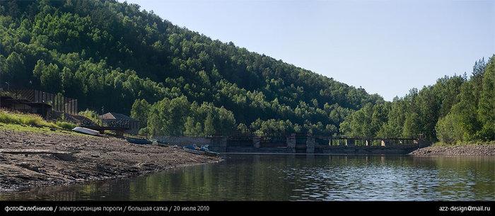 пороги / плотина / река большая сатка