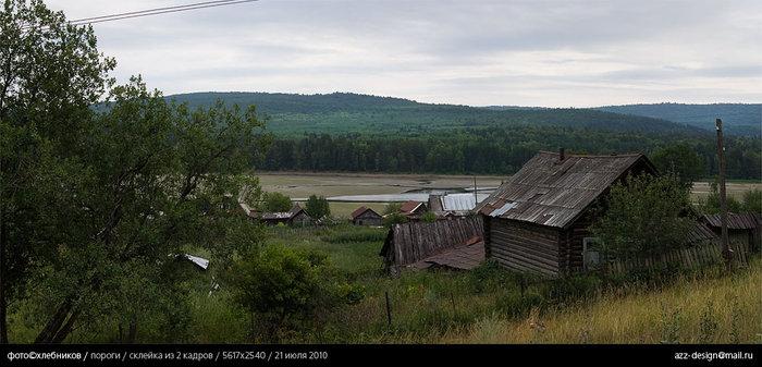 деревня пороги / река большая сатка