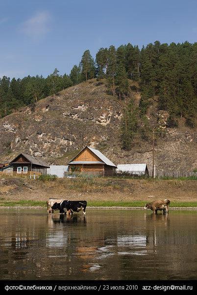 деревня верхнеайское / река ай