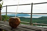 Перед спуском обязательно надо выпить кокосового молока!