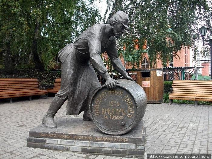 Памятник пивовару.