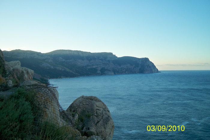 Вид на море с высоты третьего уровня крепости Чембало
