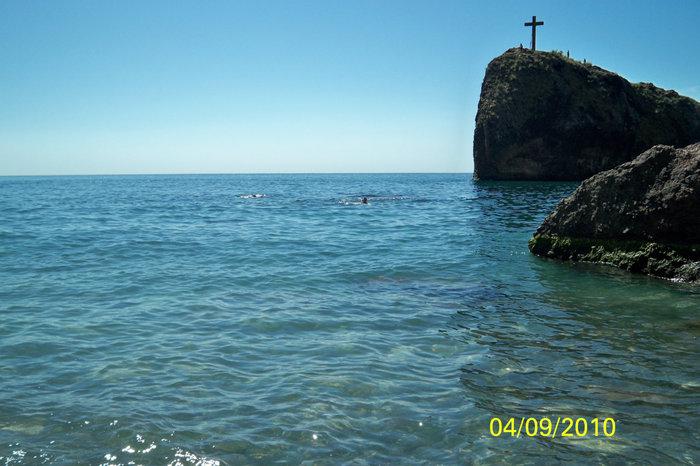 Вид на море с пляжа на Фиоленте