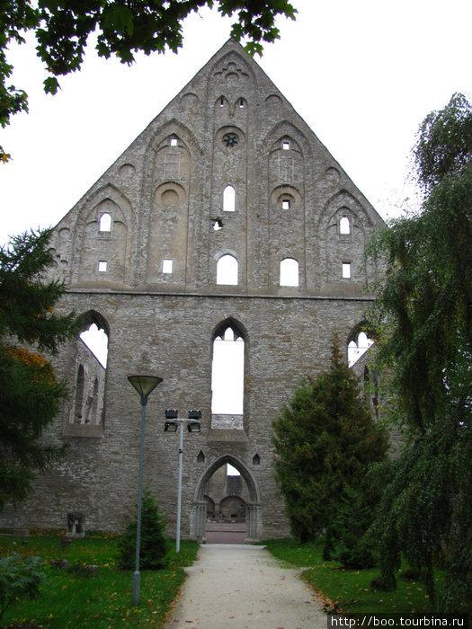 По оставшейся стене мы можем судить о гигантских размерах бывшего монастыря
