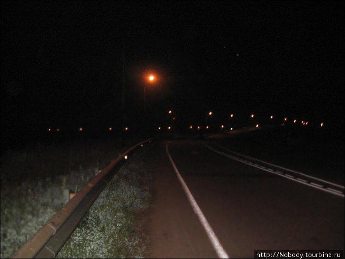 Хабаровская объездная. Абсолютно пустая в ночи...