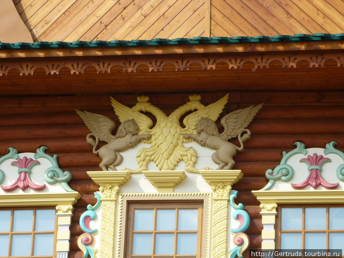 Орлы и львы над царским окном