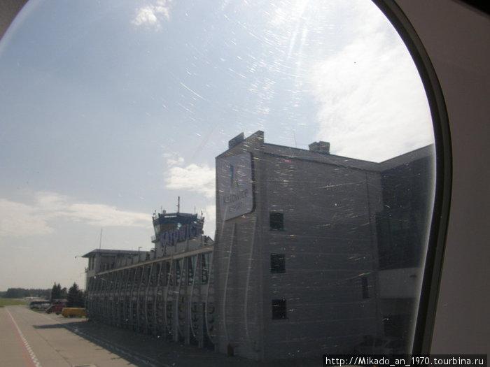 Аэропорт Катовице-Пржович, вид сзади