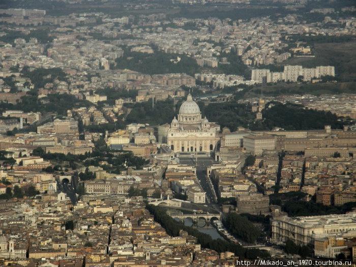 Ватикан-вид с борта самолета