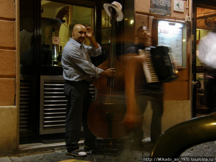 Уличные музыканты в Трастевере