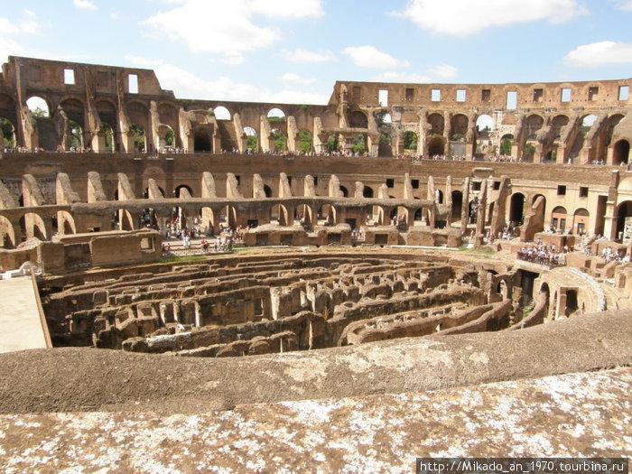 Колизей, вид со второго этажа