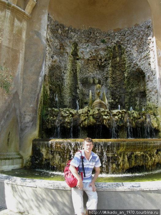 Я на фоне фонтана