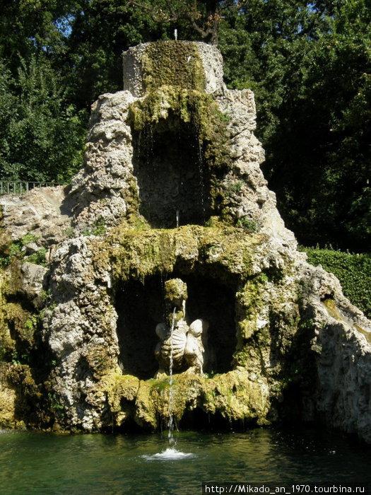 Двухьярусный фонтан дракончика