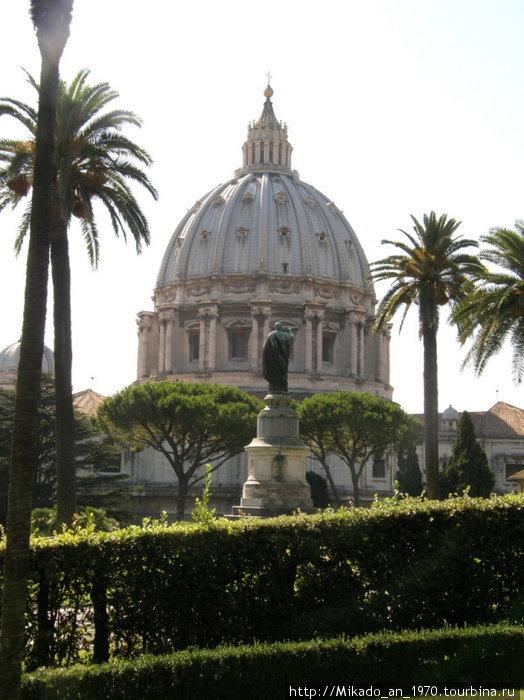 Купол Собора Святого Петра за статуей