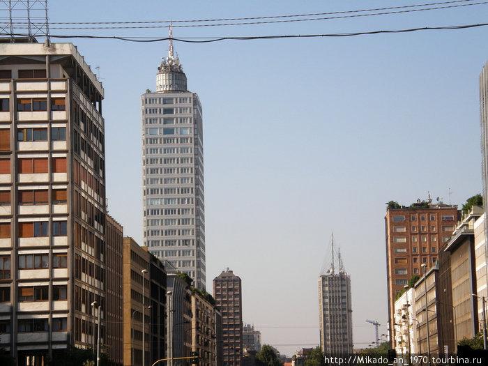 Вид на Милан от желехнодорожного вокзала