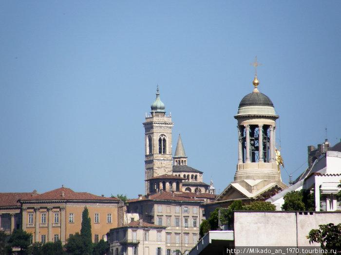 Бергамо — первый взгляд с вокзала