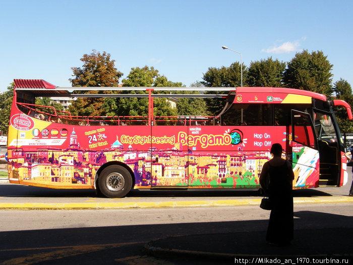 Туристический автобус в Бергамо