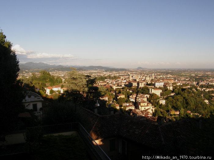 Панорама Бергамо с одной из самых высоких точек