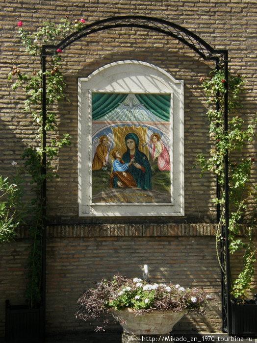 Мозаичная икона Санта Марии