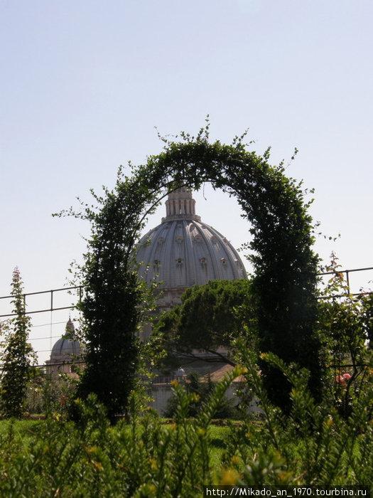 Купол собора в садовой арке