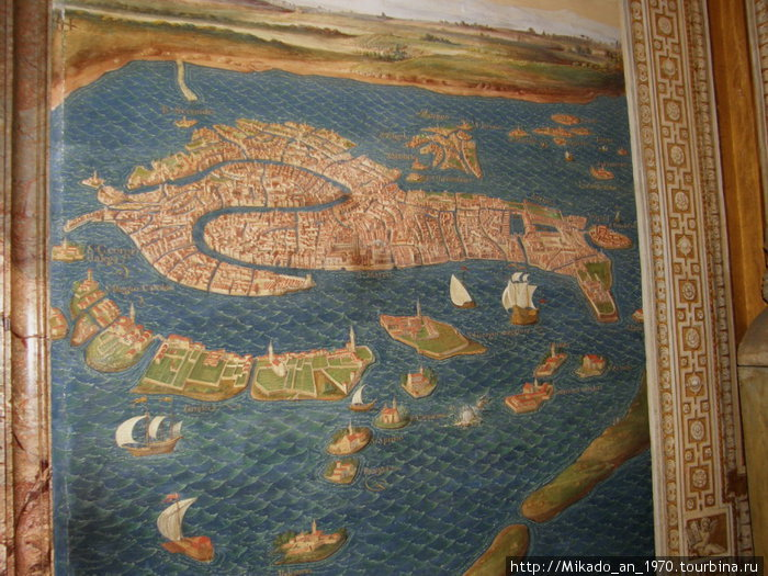 Карта какого то острова в музее Ватикана