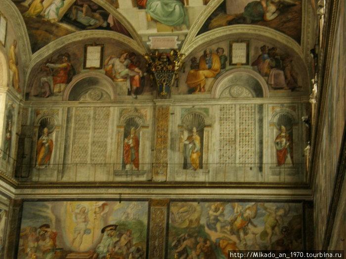 Передняя стена в сикстинской капелле