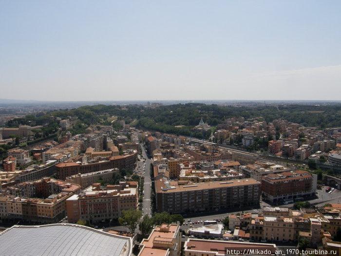 Панорам Рима с купола собора Святого Петра