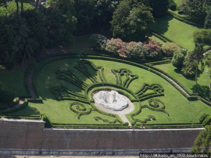 Сады Ватикана, вид с купола