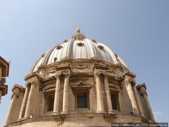 Купол собора с промежуточной площадки