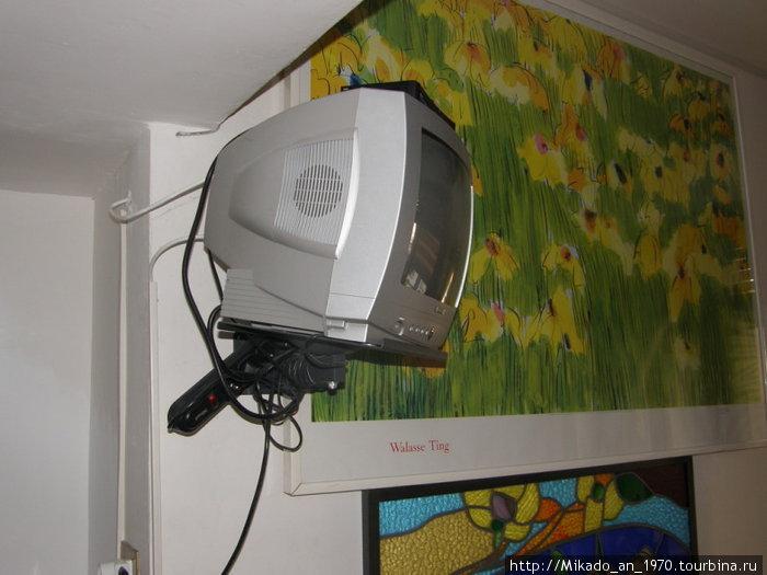Телевизор маленький, но кто его смотрит в Риме