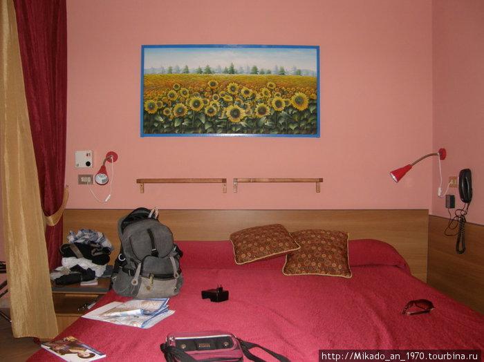 Наш номер в Неаполе — кровать